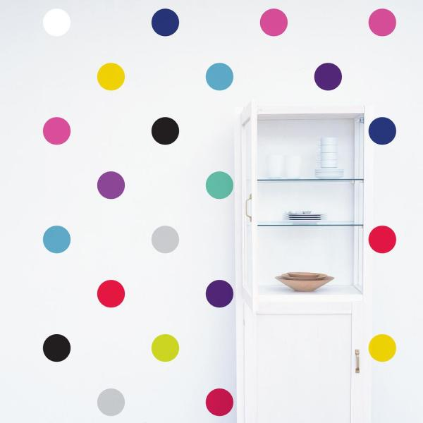Monogram with POLKA DOTS Wall Decals Polka Dot Wall Decal Personalized Circles and dots Kids Teen Decal ~ c238 Dots Kids Wall Decal