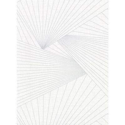 Berkeley White Geometric Faux Linen Vinyl Strippable Roll (Covers 60.8 sq. ft.)