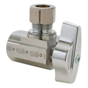 3/8 in. FIP Inlet x 3/8 in. Comp Outlet 1/4-Turn Angle Ball Valve