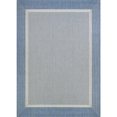 Recife Stria Texture Champagne-Blue 6 ft. x 9 ft. Indoor/Outdoor Area Rug