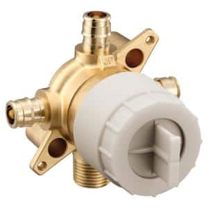 M-CORE 3-Series 1/2 in. 4 Port Tub and Shower Mixing Valve with Cold Expansion PEX Connections