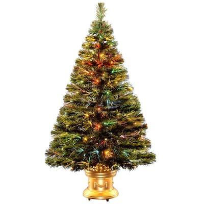 4 ft. Fiber Optic Radiance Fireworks Artificial Christmas Tree