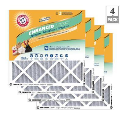 12  x 12  x 1  Enhanced Allergen and Odor Control FPR 6 Air Filter (4-Pack)