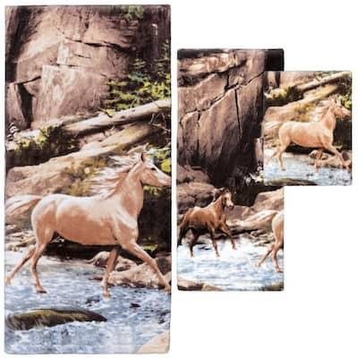 Horse 3-Piece Bath Towel Set
