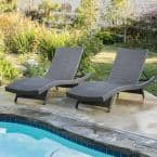 Salem gray 2-Piece Wicker Outdoor Chaise Lounge
