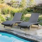 Salem gray 2-Piece Wicker Outdoor Chaise Lounge
