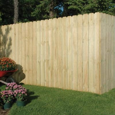 5/8 in. x 6 in. x 6 ft. Dog Ear Brazilian Pine Fence Picket (10-Pack)