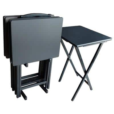 Yes Folding Table Metal Tables Storage Organization The Home Depot