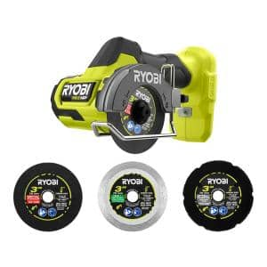 ONE+ HP 18-Volt Brushless Cordless Compact Cut-Off Tool (Tool Only) with Extra 3 in. Cut-Off Wheels (3-Pack)