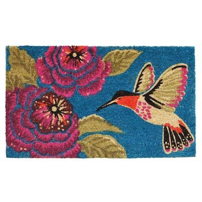Hummingbird Delight 24 in. x 36 in. Door Mat