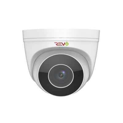 4MP IP Commercial Grade Indoor/Outdoor Surveillance Turret Camera with Motorized Lens & Built-In Microphone