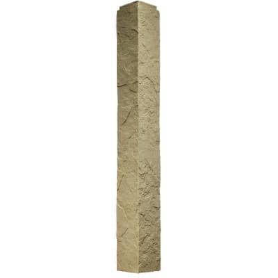 Sandstone Buff 5.5 in. x 48 in. Faux Polyurethane Stone Outside Corner (2-Pack)