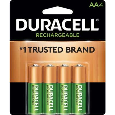 Rechargeable AAA and AA NiMH Battery Assortment Pack (4-Count, 2-Pack)