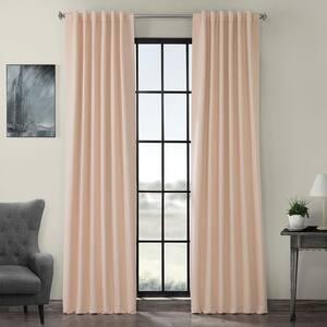 Bellini Peach Rod Pocket Blackout Curtain - 50 in. W x 120 in. L