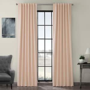 Bellini Peach Rod Pocket Blackout Curtain - 50 in. W x 84 in. L