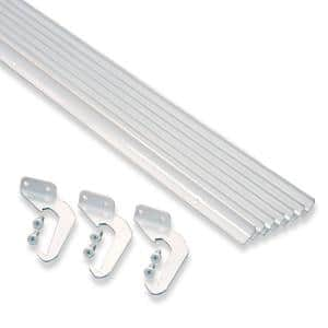 4 in. x 25 ft. White Aluminum Gutter with Brackets & Screws - Value Pack of 25 ft.
