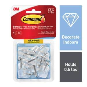 1/2 lb. Small Clear Wire Hook Value Pack (9 Hooks, 12 Strips)