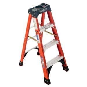 4 ft. Fiberglass Step Ladder (8 ft. Reach Height) with 300 lbs. Load Capacity Type IA Duty Rating