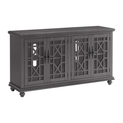 Elegant 63 in. Gray TV Stand for TVs up to 65 in.