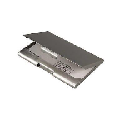 3.75 in. x 2.5 in. x 0.25 in. Satin Flat Business Card Case