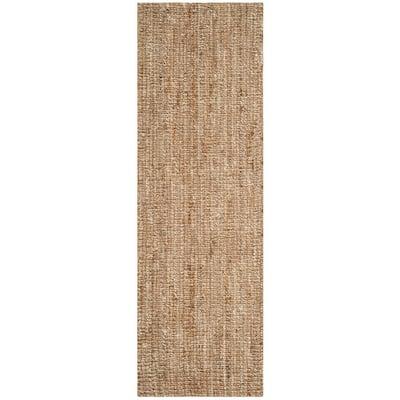 Natural Fiber Beige/Ivory 2 ft. x 6 ft. Solid Runner Rug