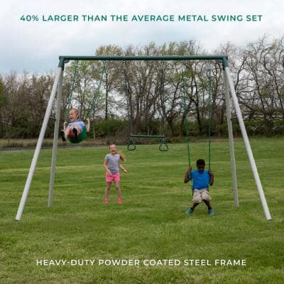 Big Brutus Heavy-Duty Metal A-Frame Swing Set