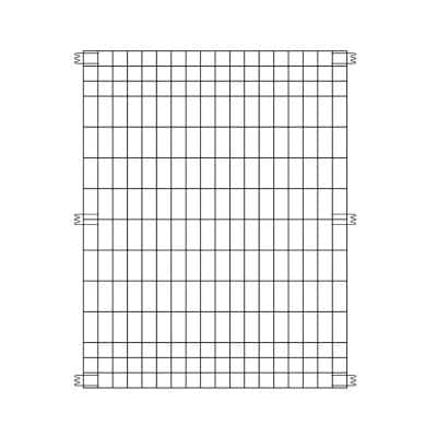 44 in. H x 36 in. W Steel Multi-Purpose No Dig Black Fence Panel