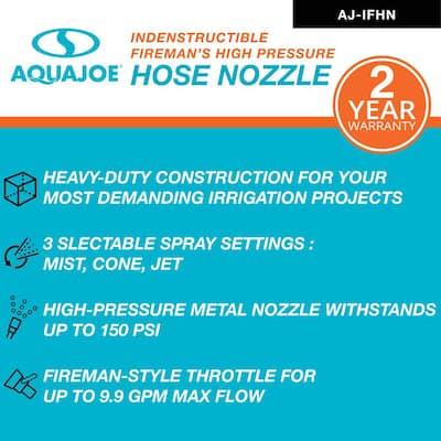 Indestructible Fireman's Hose Nozzle