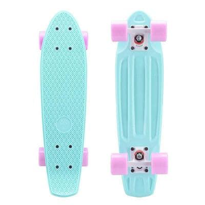 22 in. x 6 in. Skateboards Complete Skateboards for Kids Youths Teens Beginners Green