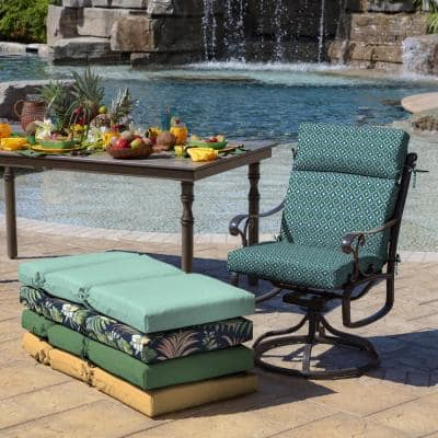 21 in. x 44 in. Alana Tile Outdoor Dining Chair Cushion