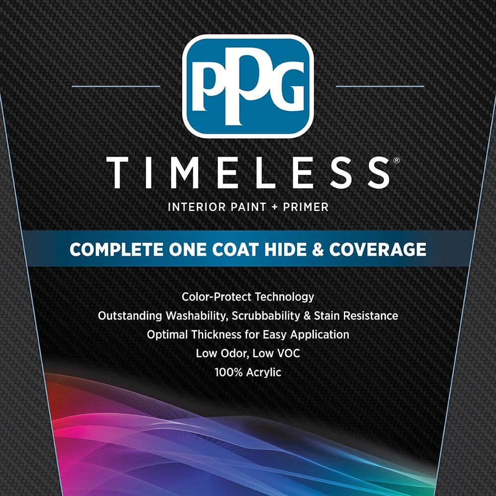 Ppg Timeless 1 Gal Hdppg1n05 Surreal Blue Eggshell Interior One Coat Paint With Primer Hdppg1n05 01e The Home Depot