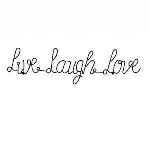 ''Live Laugh Love'' Metal Cutout Sign