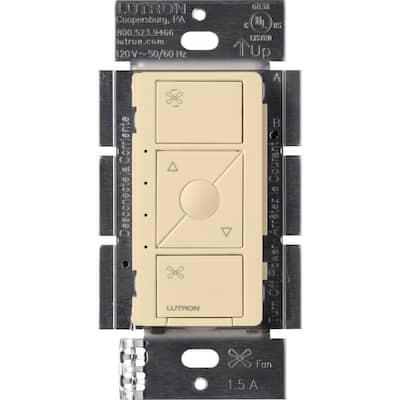 Single-Pole Caseta Wireless Smart Fan Speed Control, Ivory