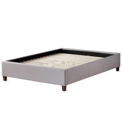 Brookside Ava Stone Twin Upholstered Platform Bed With Slats Bsttstuppl The Home Depot