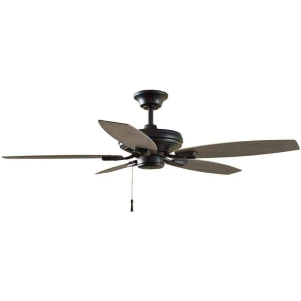 Indoor Outdoor Matte Black Ceiling Fan, Home Depot Outdoor Fans Without Lights