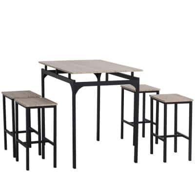 Black Dining Room Sets Kitchen Furniture The Home Depot