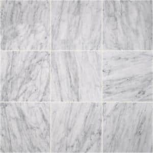 Carrara White 18 in. x 18 in. Polished Marble Floor and Wall Tile (13.5 sq. ft./Case)