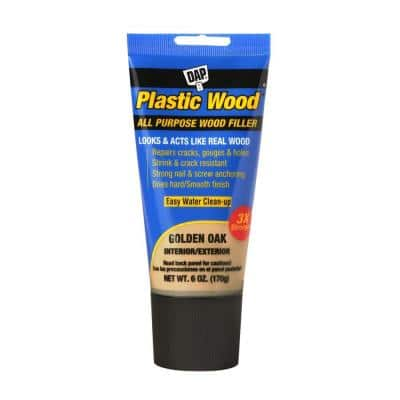Plastic Wood 6 oz. Gold Oak Latex Wood Filler (6-Pack)