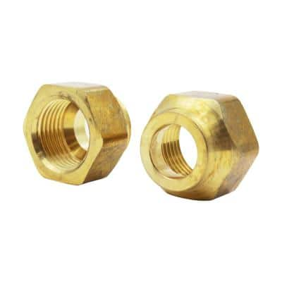 1/2 in. Forged Flare Brass Nut Fitting (2-Pack)