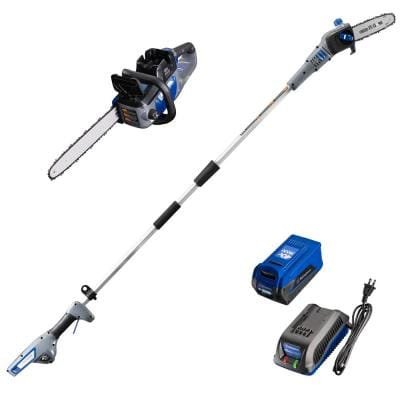 40V Pole Saw and Chainsaw with 40V 2.0 Ah Battery and Battery Charger