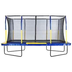 Easy Assemble Spacious 9 ft. x 15 ft. Rectangular Trampoline with Fiber Flex Enclosure Feature