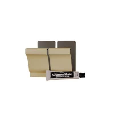 5 in. Heritage Cream Aluminum Seamers with Seamermate (2-Pack)
