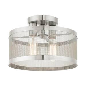 Industro 2 Light Brushed Nickel Semi Flush Mount