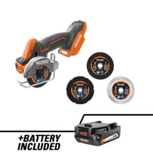 18V SubCompact Brushless Cordless 3 in. Multi-Material Saw with (3) Cutting Wheels and 18V Lithium-Ion 1.5 Ah Battery