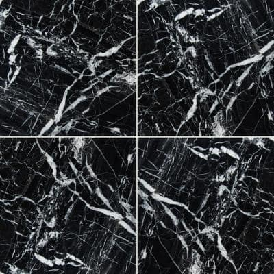Black Ice Marble 12 in. x 12 in. Polished Marble Floor and Wall Tile (5 sq. ft./Case)