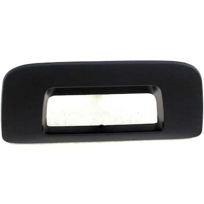 Tailgate Handle Bezel Smooth Black Without Keyhole