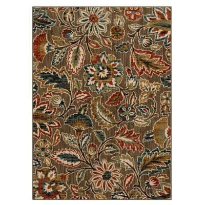 Elyse Taupe 4 ft. x 6 ft. Area Rug