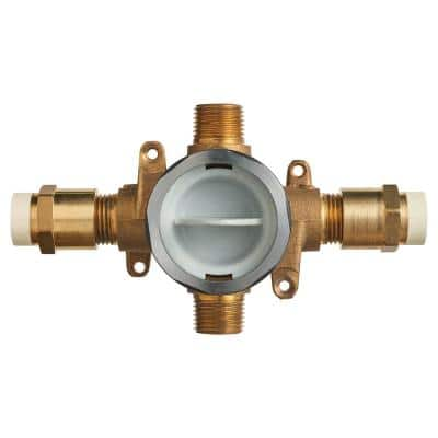 Flash Shower Rough-In Valve with CPVC Inlets/Universal Outlets