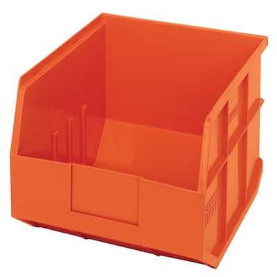Stackable Shelf 16-Qt. Storage Tote in Orange (6-Pack)