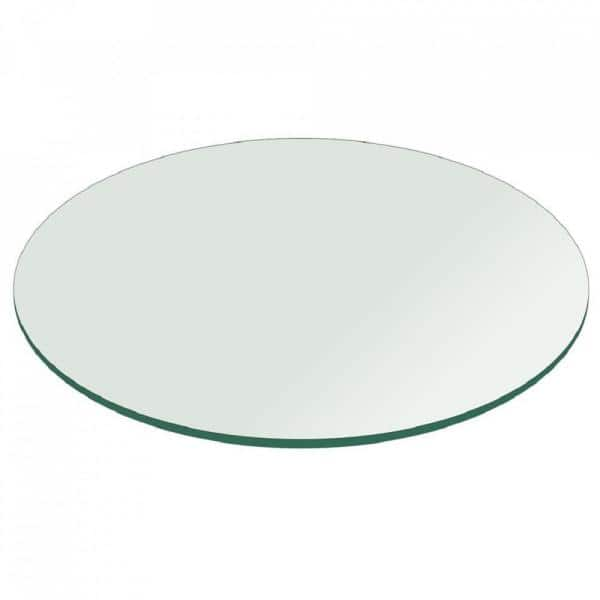 Clear Round Glass Table Top, Round Table Tops Home Depot